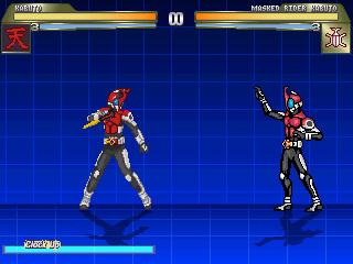 仮面ライダーカブト戦闘画面1
